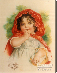 Little Red Riding Hood by Maud Humphrey - Stretched Canvas Art Print
