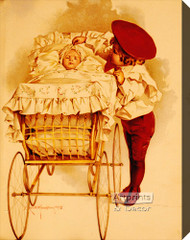 First Outing by Maud Humphrey - Stretched Canvas Art Print