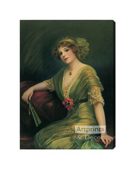 Carreen by C. Allen Gilbert - Stretched Canvas Art Print