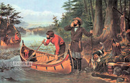 American Hunting Scenes - An Early Start by Currier & Ives - Art Print