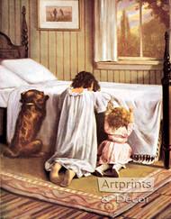 The Playmates' Prayer - Art Print