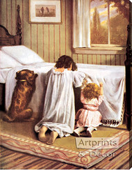 The Playmates' Prayer - Stretched Canvas Art Print