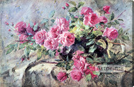La France Roses by Frans Mortelmans - Stretched Canvas Art Print