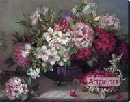 Floral Arrangement from - Stretched Canvas Art Print