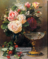 Cupid's Goblet by Jean Baptiste Robie - Stretched Canvas Art Print