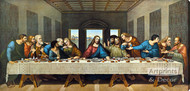 The Last Supper by Leonardo Da Vinci - Stretched Canvas Art Print