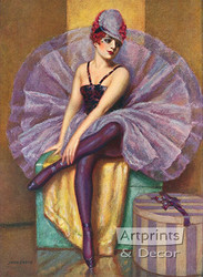 The Violet Butterfly by John Garth - Art Print