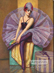 The Violet Butterfly by John Garth - Stretched Canvas Art Print