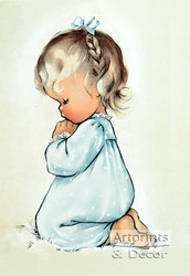 A Child's Prayer by Charlot Byj - Art Print