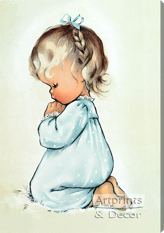 A Child's Prayer by Charlot Byj - Stretched Canvas Art Print