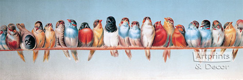 The Bird Perch by Hector Giacomelli - Art Print