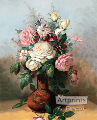 Bouquet of Roses by C. Chabelilz - Art Print