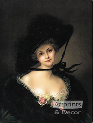 Kathleen by Francois Martin-Kavel - Stretched Canvas Art Print