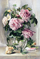 La France Roses by Amy Gross - Art Print