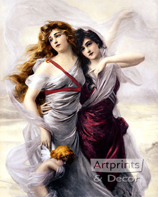 Enchanted Maidens by Edouard Bission - Art Print