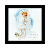 Playing Bride - Framed Art Print