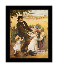 Off to the Fair  - Framed Art Print
