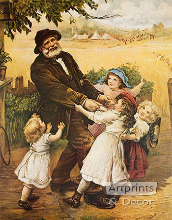 Off to the Fair by Frederick Morgan - Framed Art Print