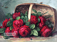 Basket of Beauties by Paul de Longpre - Art Print