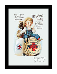 Perfect Flour - Vintage Ad - Framed Art Print