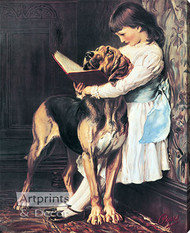 The Reading Lesson by C. Burton Barber - Stretched Canvas Art Print