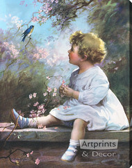 Song of the Bluebird by Zula Kenyon - Stretched Canvas Art Print