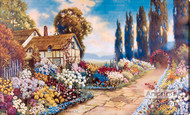 Old Fashion Garden by R. Atkinson Fox  - Stretched Canvas Art Print