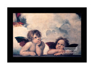 The Sistine Cherubs - Framed Art Print
