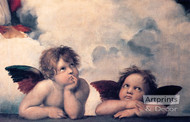 The Sistine Cherubs by Raphael - Art Print