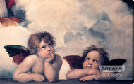 The Sistine Cherubs by Raphael - Stretched Canvas Art Print