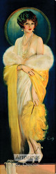 The Selz Good Shoes Lady by Howard Chandler Christy - Stretched Canvas Art Print