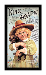 King of Soaps - Vintage Ad - Framed Art Print