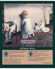 Hear My Dollies' Prayer by Mary Sigsbee Ker - Art Print