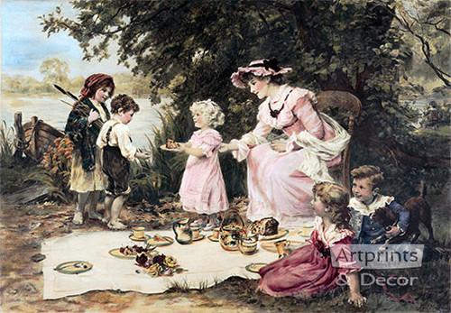 Little Lady Bountiful by Frederick Morgan - Framed Art Print
