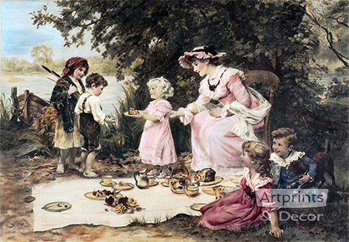 Little Lady Bountiful by Frederick Morgan - Art Print