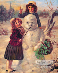 Winter Friends - Art Print