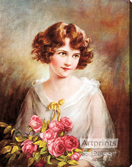 In the Month of Roses by Zula Kenyon - Stretched Canvas Art Print