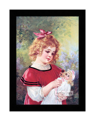Dolly's New Dress - Framed Art Print