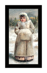 Winter Miss - Framed Art Print
