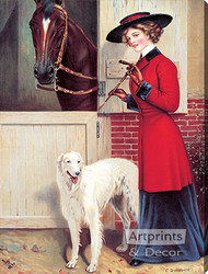 Ready to Ride by C. Dillworth - Stretched Canvas Art Print