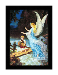 Guardian Angel - Heilige Schutzengel - Framed Art Print