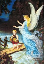 Guardian Angel by Heilige Schutzengel - Art Print