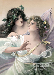Spring Maidens by Edouard Bisson - Art Print