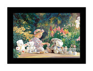 Kyla's Tea Party - Framed Art Print