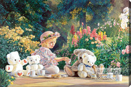 Kyla's Tea Party by Kevin Roeckl - Stretched Canvas Art Print