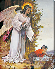 Guardian Angel V - Stretched Canvas Art Print