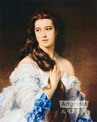 Portrait of Madame Rimsky-Korsakov by Franz Xaver Winterhalter - Art Print