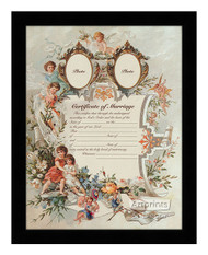 Certificate of Marriage - Framed Art Print