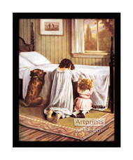 The Playmates' Prayer - Framed Art Print