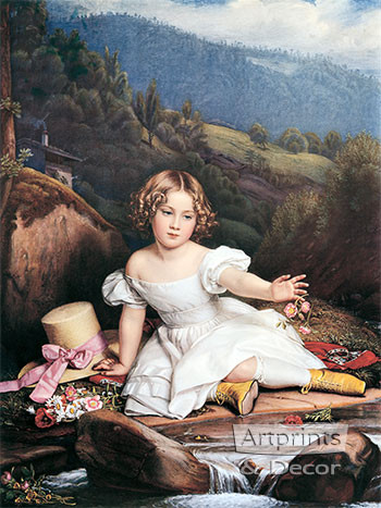 Girl with the Yellow Boots - Art Print